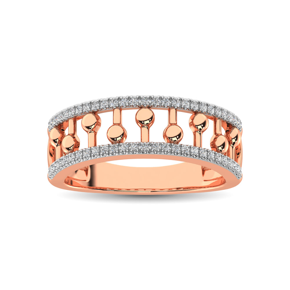 10K Rose Gold 1/4 Ct.Tw. Diamond Fashion Ring