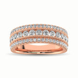 14K Rose Gold 1 1/3 Ct.Tw. Diamond Anniversary Ring