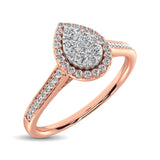 10K Rose Gold 1/4 Ct.Tw. Diamond Heart Ring