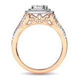 14K Two Tone Gold  3/4 Ct.Tw. Diamond Engagement Ring