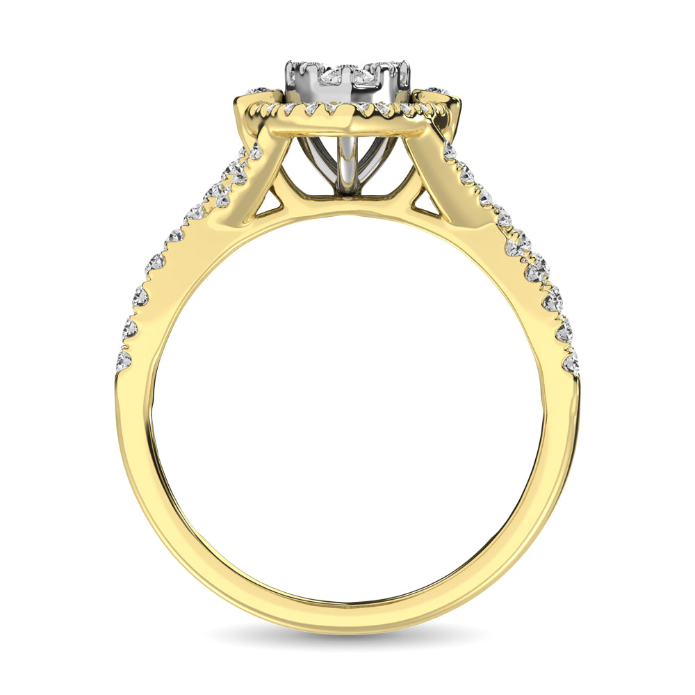 14K Yellow Gold  1 Ct.Tw. Diamond Engagement Ring
