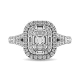 14K White Gold  1 Ct.Tw. Diamond Fashion Ring