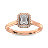 14K Rose Gold  1/4 Ct.Tw. Diamond Fashion Ring
