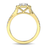 14K Yellow Gold  9/10 Ct.Tw. Diamond Fashion Ring