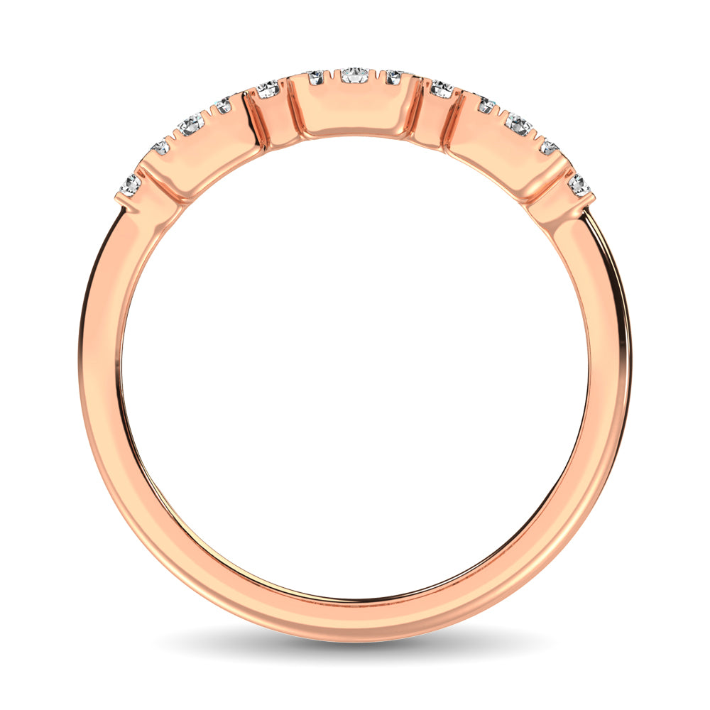 14K Rose Gold  1/2 Ct.Tw. Diamond Fashion Ring