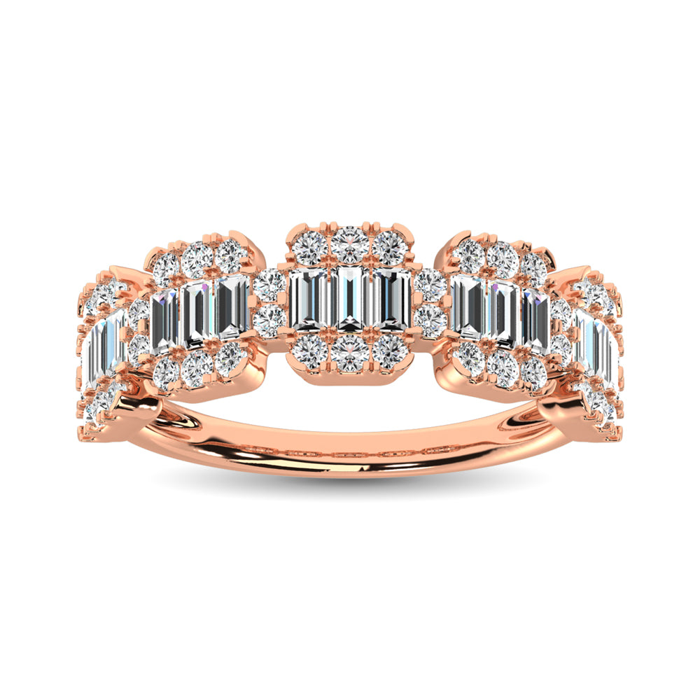14K Rose Gold  1 Ct.Tw. Diamond Fashion Ring