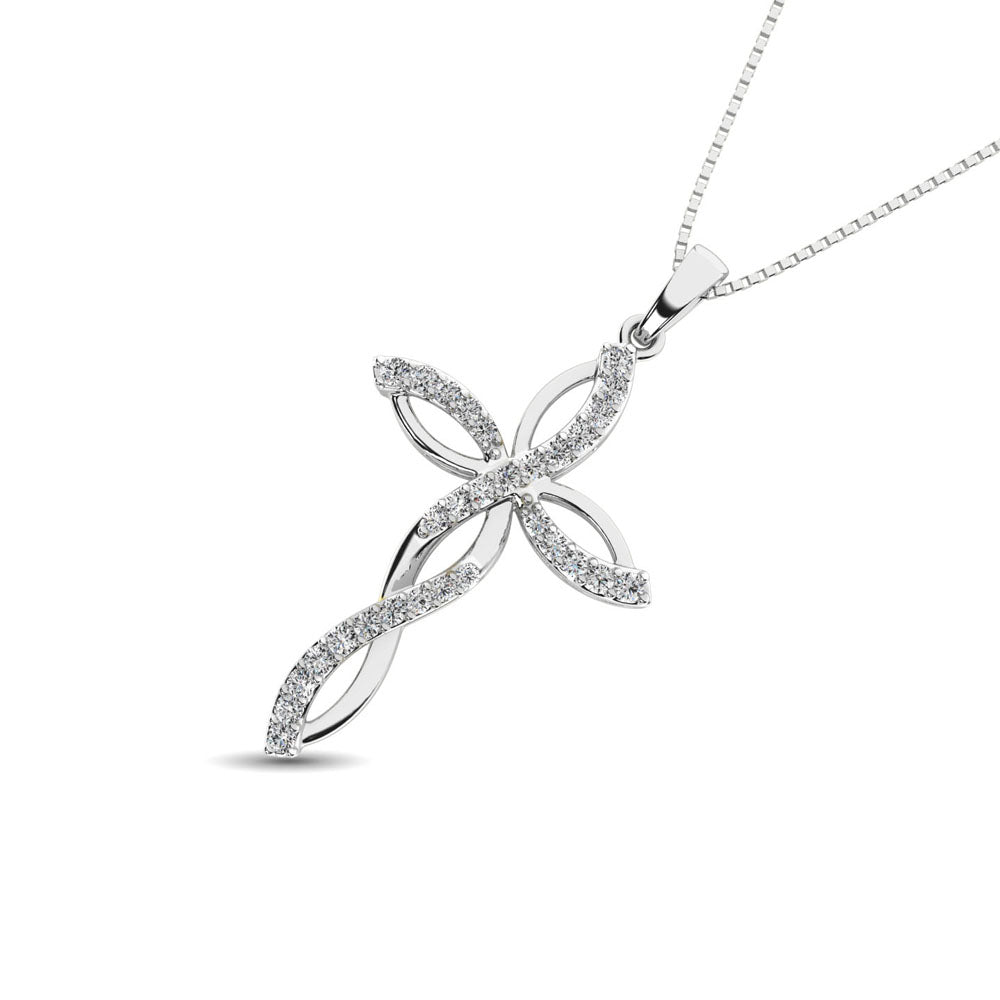 Diamond 1/5 Ct.Tw Twist cross Pendant