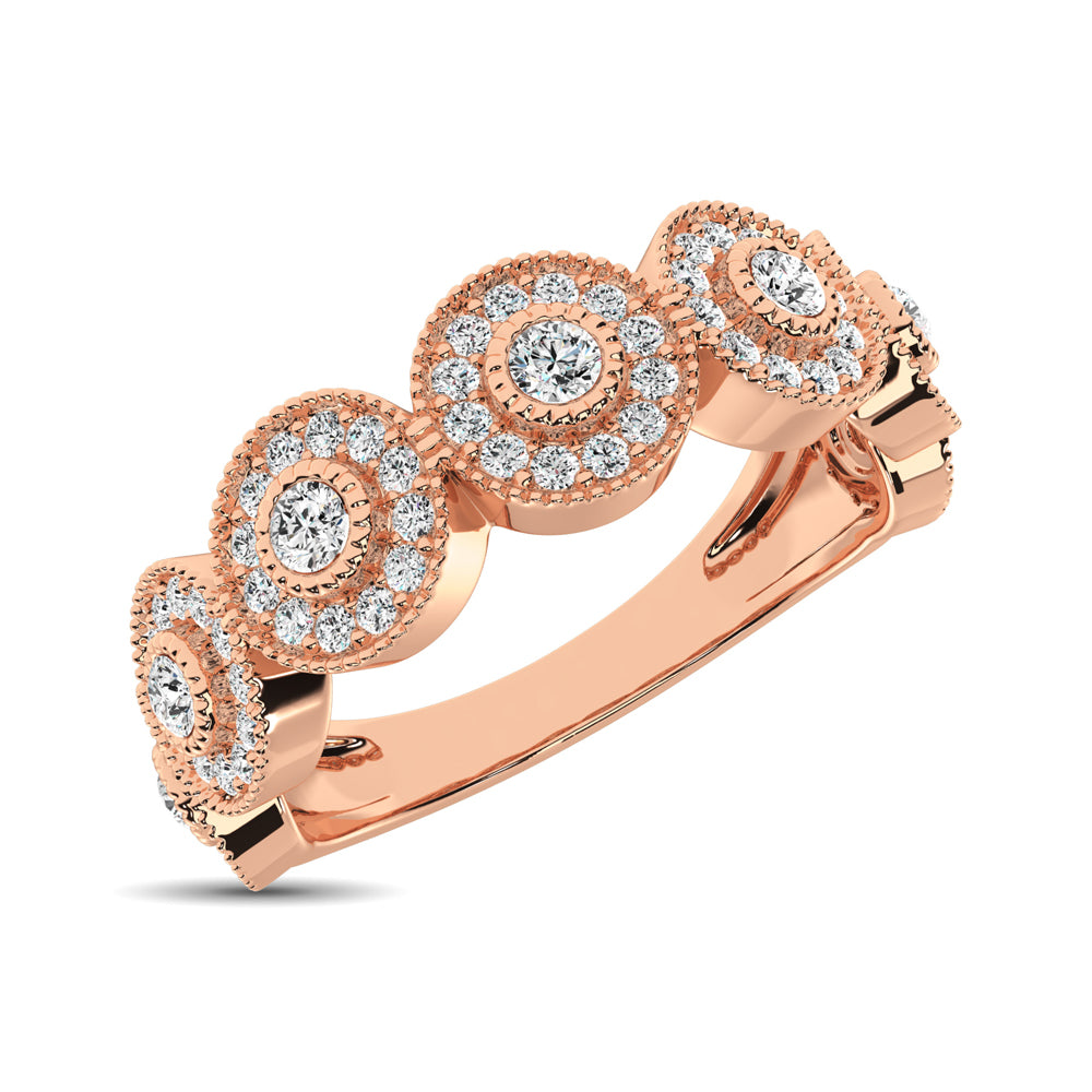14K Rose Gold 1/2 Ct.Tw. Diamond Stackable Band