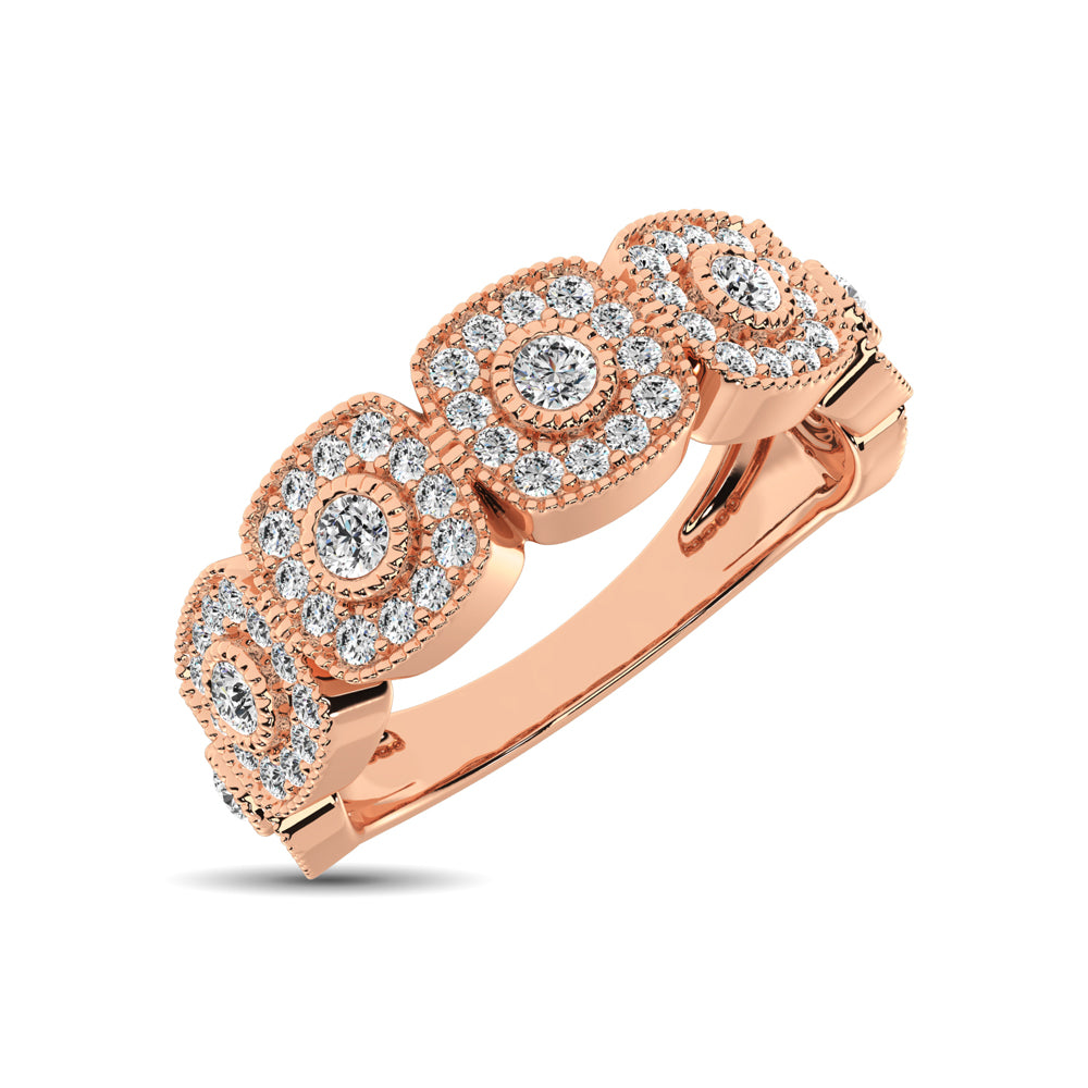 14K Rose Gold 5/8 Ct.Tw. Diamond Stackable Band