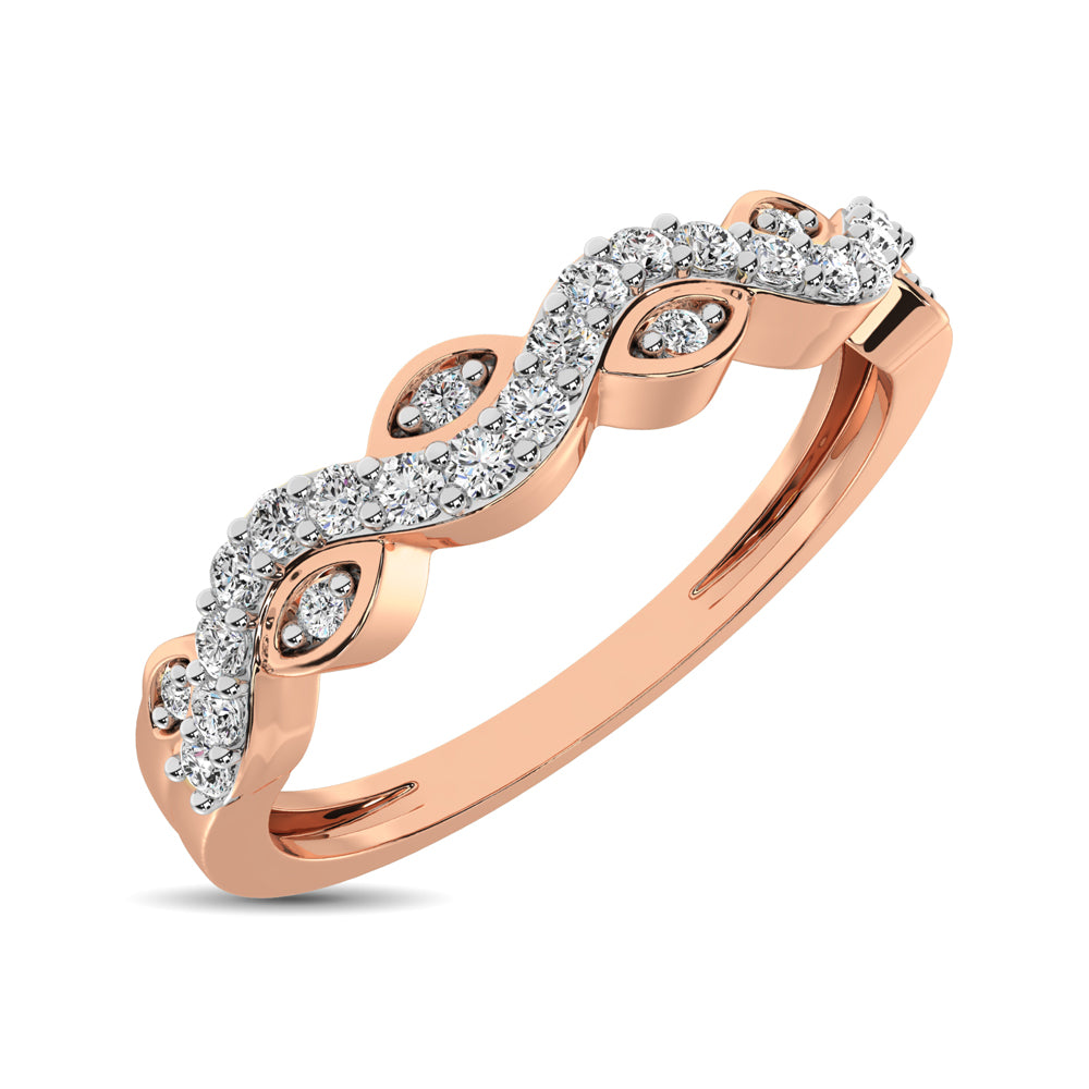 Diamond 1/6 Ctw  Twist Band in 14K Rose Gold
