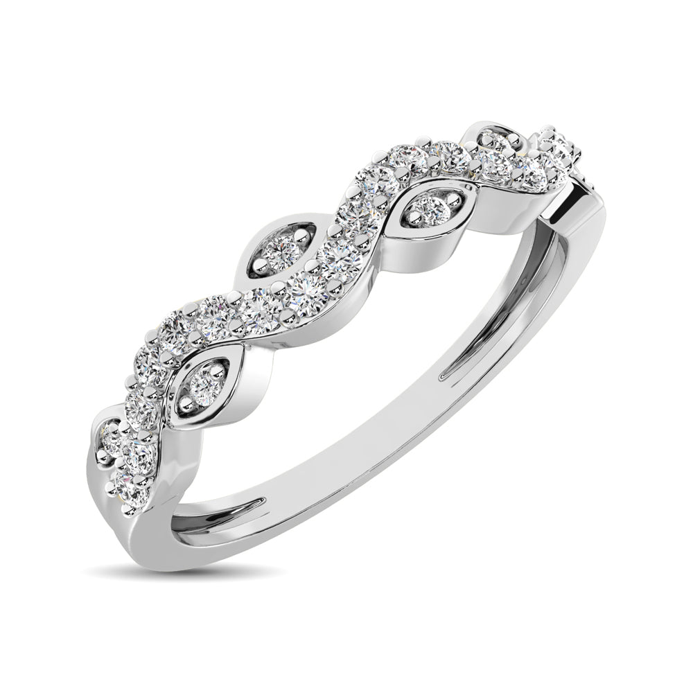 Diamond 1/6 Ctw  Twist Band in 14K White Gold