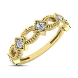 14K Yellow Gold 1/6 Ctw Diamond Stackable Band