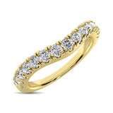 14K Yellow Gold 1/2 Ct.Tw. Diamond Curve Band
