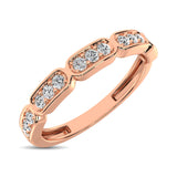 14K Rose Gold 1/5 Ct.Tw. Diamond Stackable Band