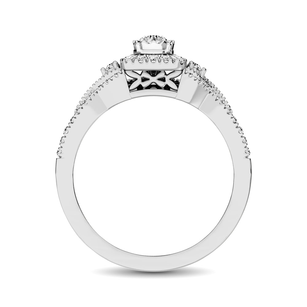 10K White Gold 1/2 Ct.Tw. Diamond Bridal Ring
