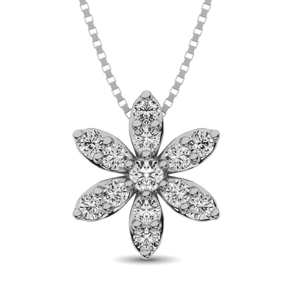 Diamond 1/4 Ct.Tw. Flower Pendant