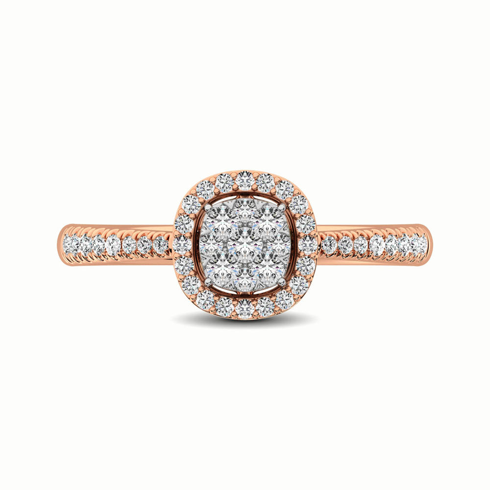 14K Rose Gold 1/3 Ct.Tw. Diamond Fashion Ring