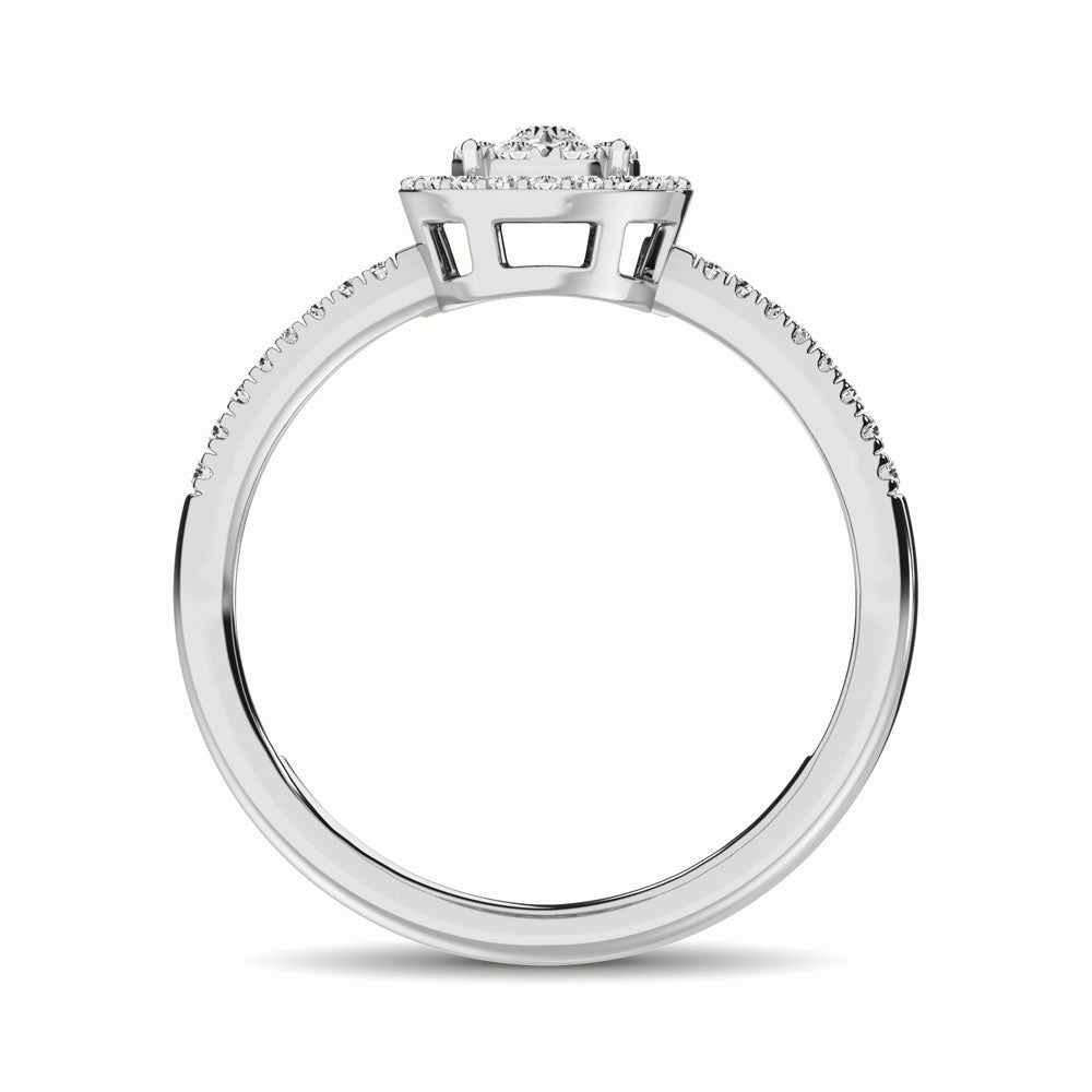 14K White Gold 1/3 Ct.Tw. Diamond Fashion Ring