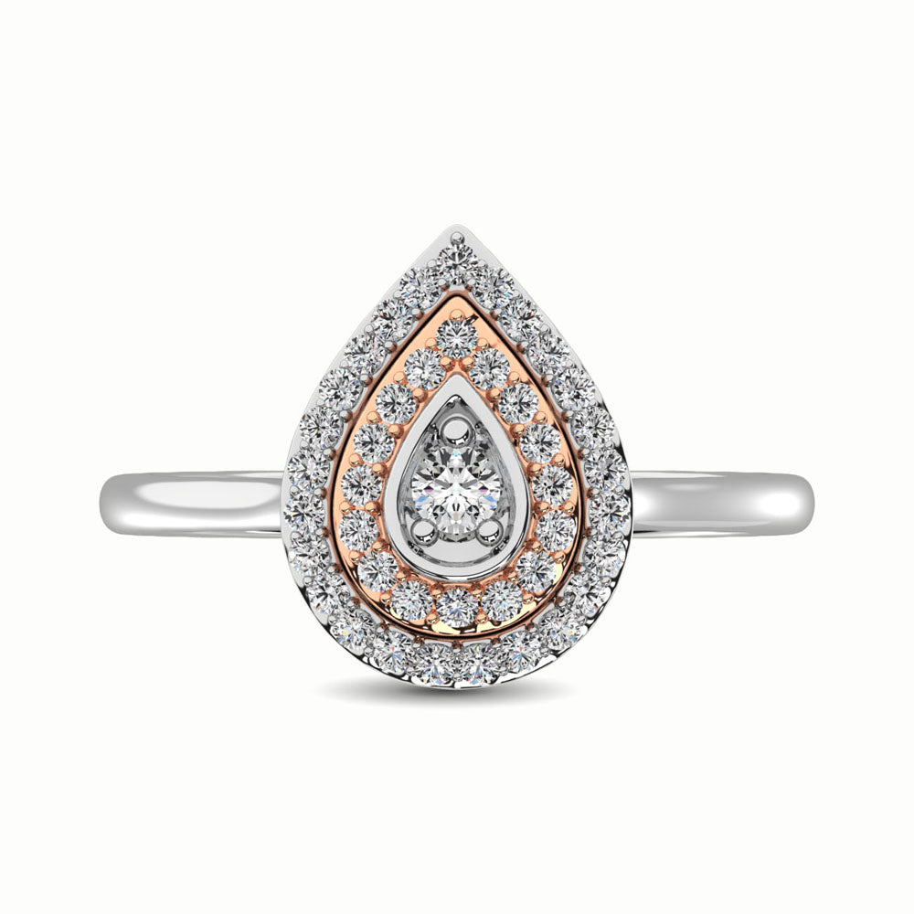 10K Two Tone 1/4 Ct.Tw. Diamond Fashion Ring