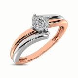10K Two Tone 1/10 Ct.Tw. Diamond Engagement Ring