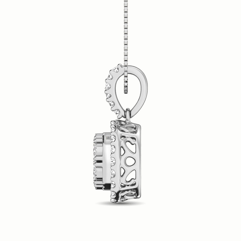 10K White Gold 1/2 Ct.Tw. Diamond Pendant