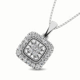 14K White Gold 1/6 Ct.Tw. Diamond Pendant