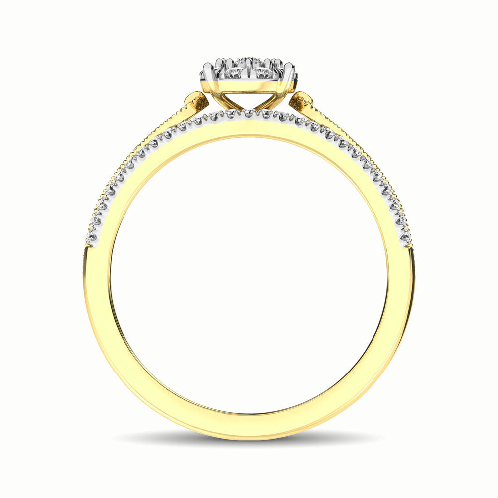 10K Yellow Gold 1/3 Ct.Tw. Diamond Engagement Ring