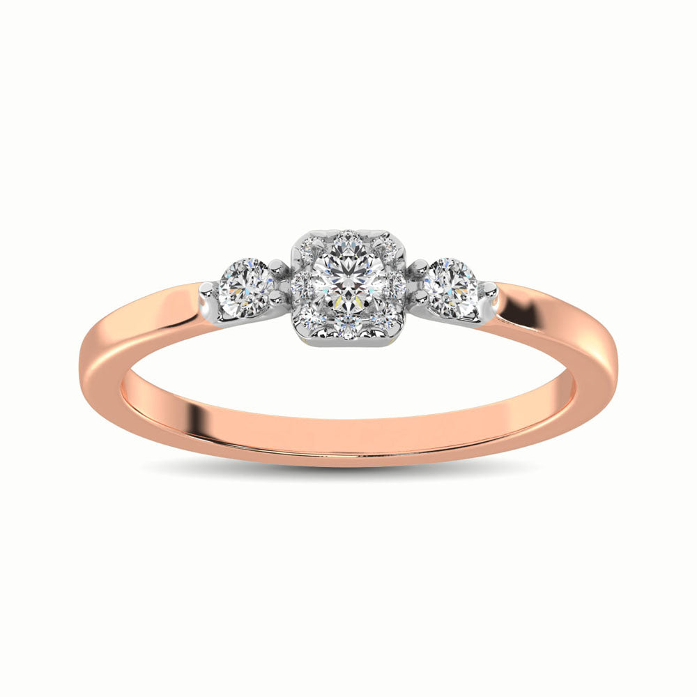 10K Rose Gold 1/3 Ct.Tw. Diamond Promise Ring