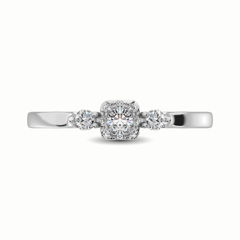 10K White Gold 1/3 Ct.Tw. Diamond Promise Ring