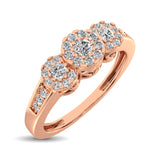 10K Rose Gold 1/3 Ct.Tw. Diamond Fashion Ring