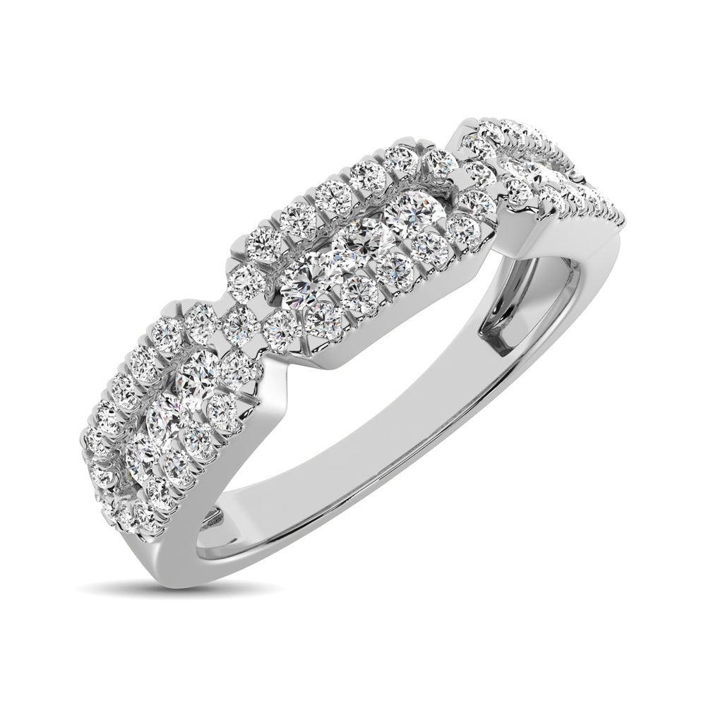 14K White Gold 1/2 Ct.Tw. Diamond Stackable Band