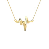 10K Yellow Gold 1/6 Ct.Tw. Diamond Heart Necklace