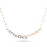 14K Rose Gold 1/4 Ct.Tw. Diamond Fashion Necklace