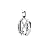 Diamond 1/10 Ct.Tw. LOVE Pendant in 10K White Gold