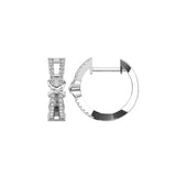 10K White Gold 1/6 Ct.Tw. Diamond Hoop Earrings