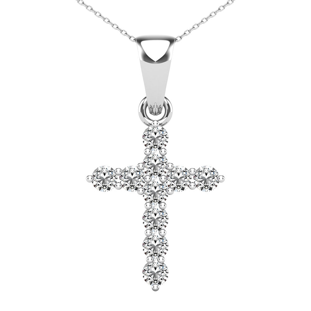 Diamond 1/6 Ct.Tw Cross Pendant
