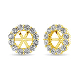 14K Yellow Gold Diamond 1/2 Ct.Tw. Earrings Jacket