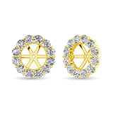 14K Yellow Gold Diamond 3/4 Ct.Tw. Earrings Jacket