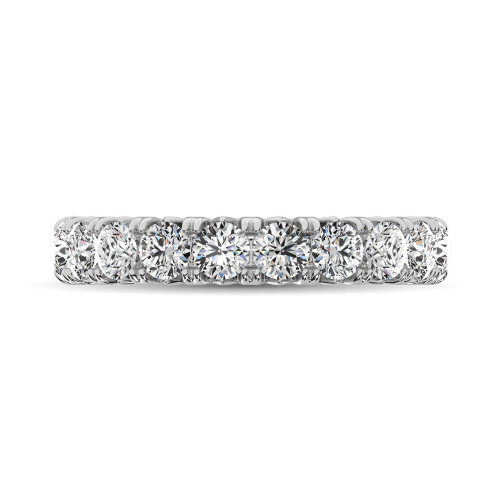 14K White Gold Diamond 2 Ct.Tw. 9 Stone Anniversary Band