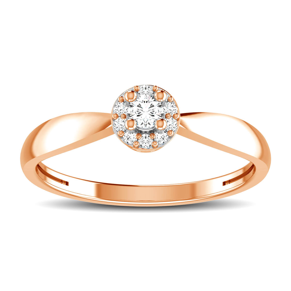 10K Rose Gold 1/6 Ct.Tw. Diamond Twisted Ring