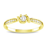 10K Yellow Gold 1/6 Ct.Tw. Diamond Fashion Ring