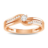 10K Rose Gold 1/5 Ct.Tw. Diamond Fashion Ring