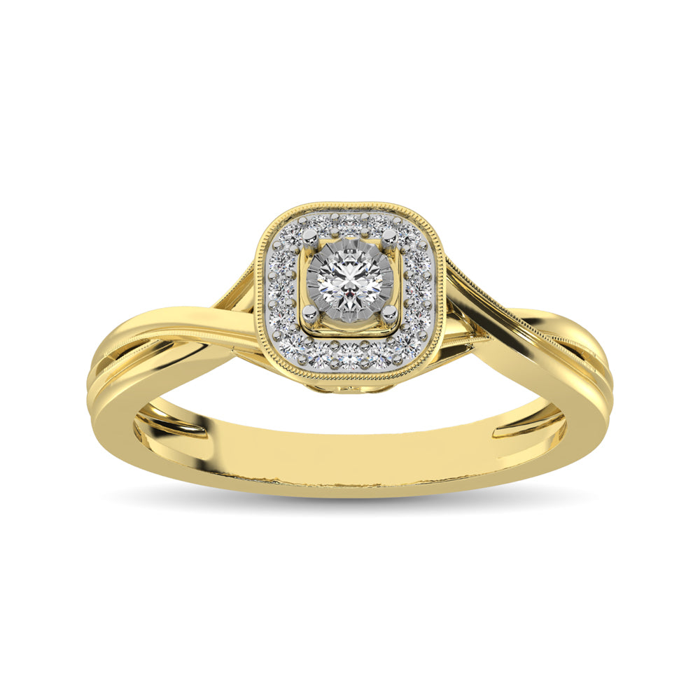 10K Yellow Gold Diamond 1/6 Ct.Tw. Promise Ring