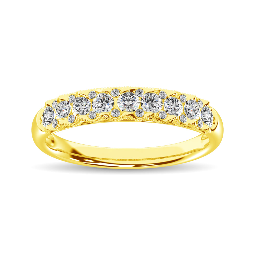 10K Yellow Gold Diamond 1/2 Ct.Tw. Anniversary Ring