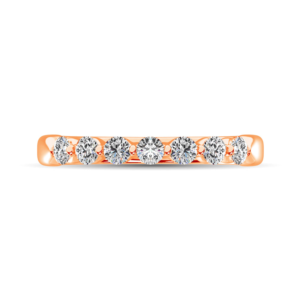 10K Rose Gold Diamond 1/2 Ct.Tw. Ladies Band