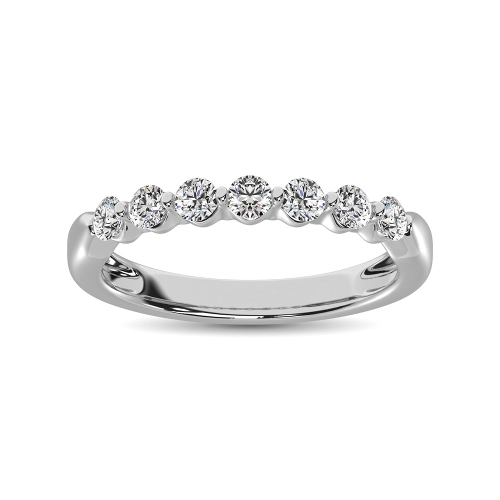 10K White Gold Diamond 1/2 Ct.Tw.  Ladies Band