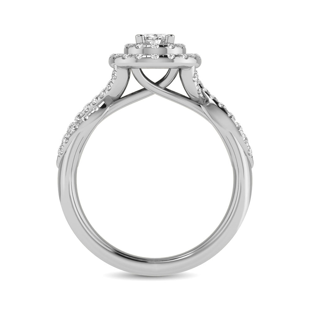14KT White Gold 1Ct.Tw. Diamond keyani Bridal Ring