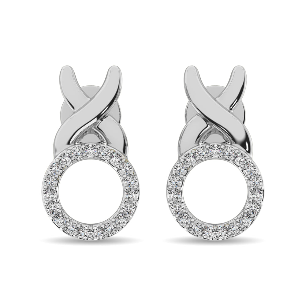Diamond Fashion Earrings 1/10 ct tw in Sterling Silver