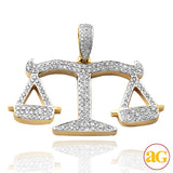 10KY 2.00CTW DIAMOND 'SCALES OF JUSTICE' PENDANT