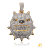 10KY 2.05CTW DIAMOND BULLDOG PENDANT